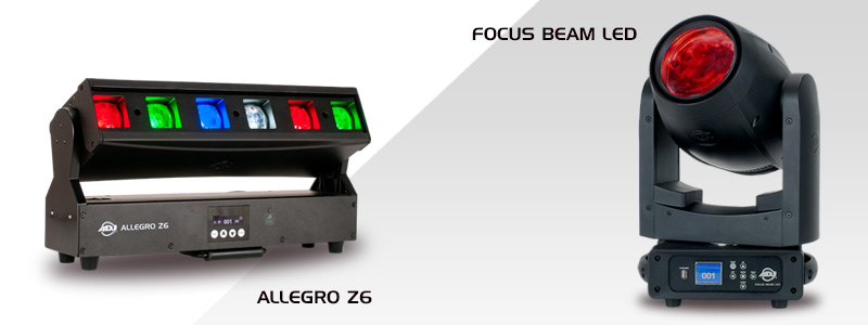 New ADJ Allegro Z6 & Focus Beam LED