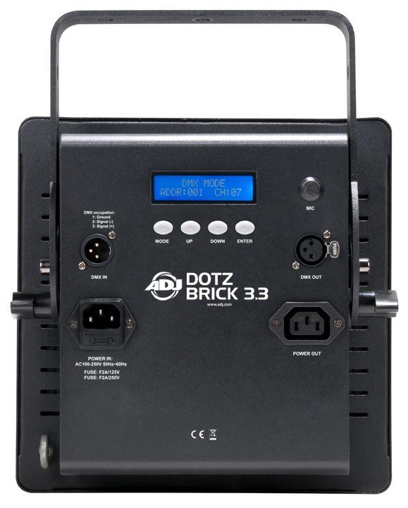ADJ Dotz Brick 3.3 Wash/Blinder LED Light Fixture - 3 x 3 High ...